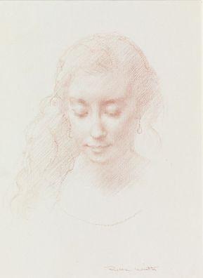 © Robbie Wraith (Portrait Study, Red chalk)