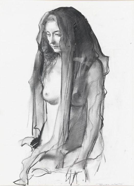 © Robbie Wraith (Study, Black Veil, Charcoal)