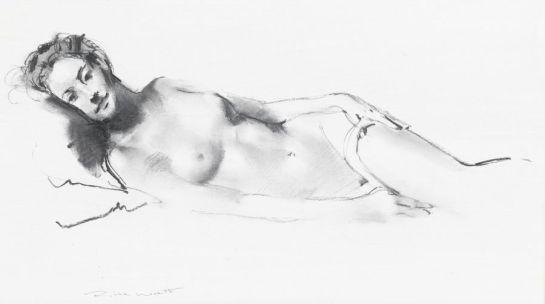 © Robbie Wraith (Figure Study, Charcoal)