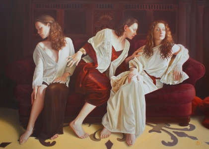 © Andrew Brady. 'Access to Justice'. Oil. (Winner of The People's Choice Award)