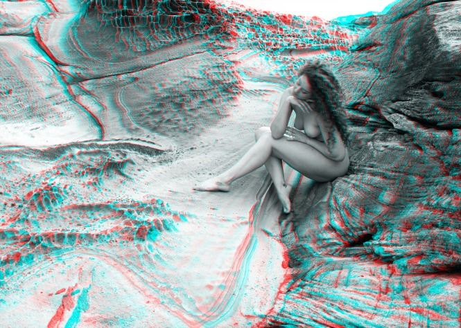 Ella Amongst the Rocks 3D