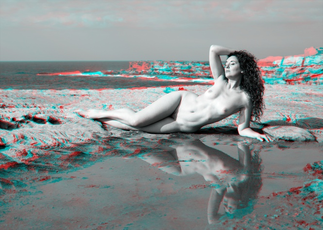 Ella Rose on the Cliff Top 3D